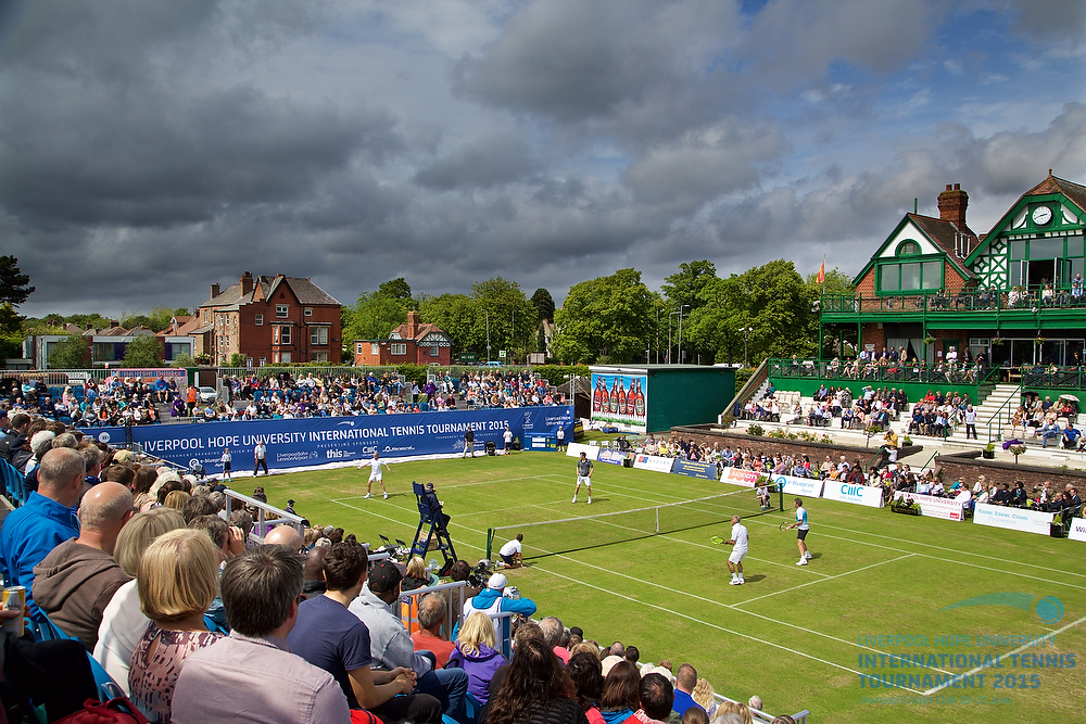 LIVERPOOL, ENGLAND - Saturday, June 20, 2015: The legends during Day 3 of the Liverpool Hope University International Tennis Tournament at Liverpool Cricket Club. (Pic by David Rawcliffe/Propaganda)